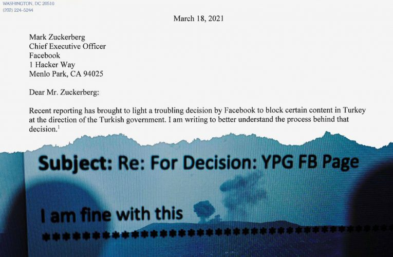 """Senator: Censorship in Turkey Raises """"Serious Questions"""" About Facebook's Commitment to Free Expression"""