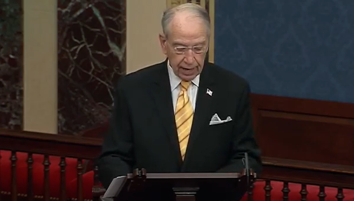Sen. Grassley Slams Big Tech Censorship Under Section 230 Immunity: 'The System Is Rigged'