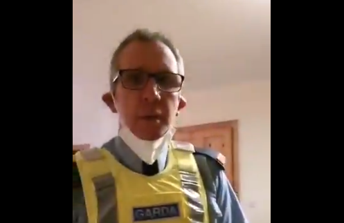 Outrage: Man Filmed Irish Police Break up Sunday Mass. A Week Later, Police Detain Him and Take His Kids.