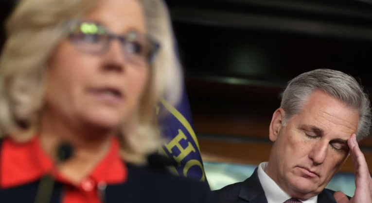 Buh Bye – Kevin McCarthy allies say GOP up with Liz Cheney and will oust her from leadership by end of the month