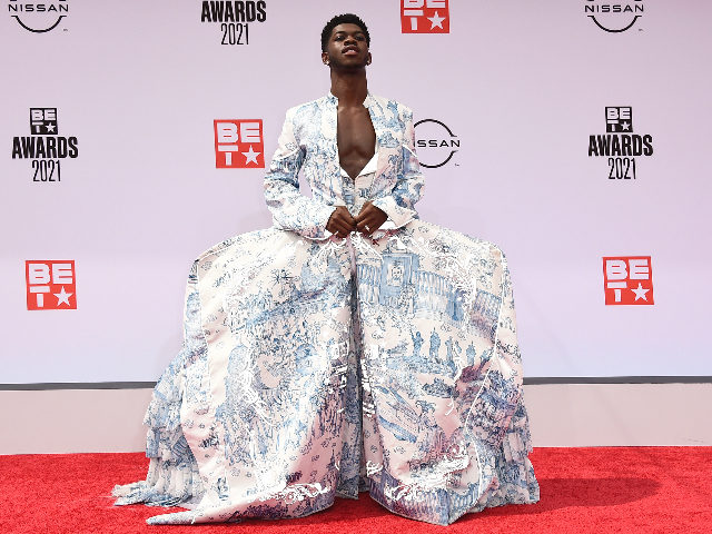 Rapper Lil Nas X Wears Dress Comparing Catholics to Nazis at the BET Awards