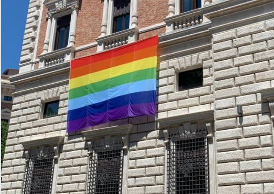 In Your Face: U.S. Embassy to Holy See Displays Big Gay Pride Flag