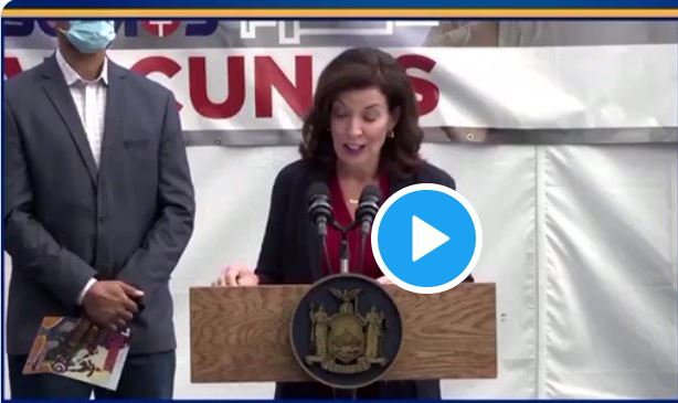 NY Gov Will Fire Unvaxx'd Heathcare Workers at Midnight – Video